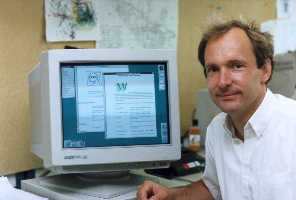Tim Berners-Lee, pioneer of the World Wide Web, c 1990s.